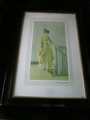 Rare Signed Early 20th century WILLIAM HENRY MARGETSON Large Print Framed
