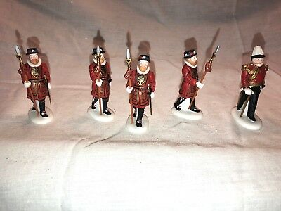 Department 56 Dickens' Village Series Yeomen Of The Guard SET OF 5  56.58397