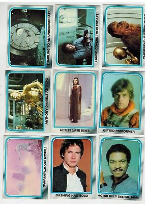 Topps 1980 Star Wars Empire Strikes Back 55 card partial set lot NM-Mint