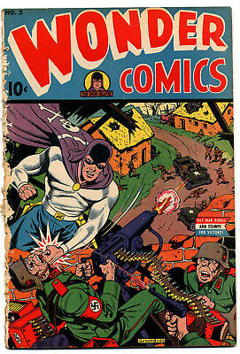 Wonder Comics 03 - Schomburg Nazi WW2 cover - not CGC