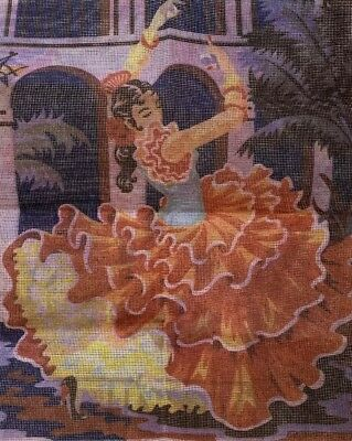 "Spanish Dancer Needlepoint Kit. Complete 17 3/4 x 22"" full color. Unsealed"
