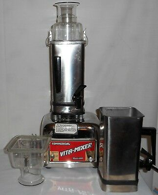 Commercial Vita Mixer Maxi 4000 Blender 850W 479044 2 Stainless Steel Containers
