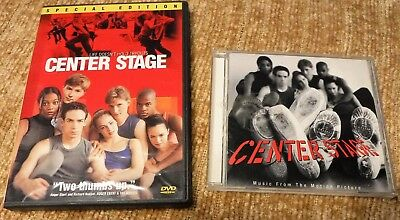 2 Center Stage Special Edition Movie DVD & Music From The Motion Picture CD Lot