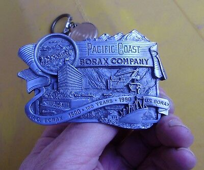 Vintage Limited Edition Pewter  Belt Buckle Pacific Coast Borax Company
