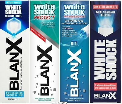 BLANX White Shock Daily Protect Non Abrasive Instant Whitening Toothpaste