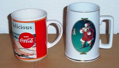 Two Coca Cola Coffee Mugs Good Condition