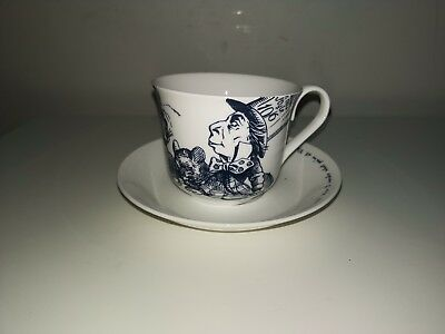 Alice In Wonderland Tea Cup Saucer By Whittard Chelsea Fine Bone China