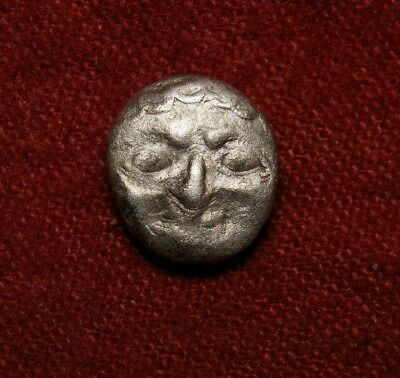 Archaic Scary Gorgoneion. Mysia Parium drachm. Very rare Ancient Greek coin.