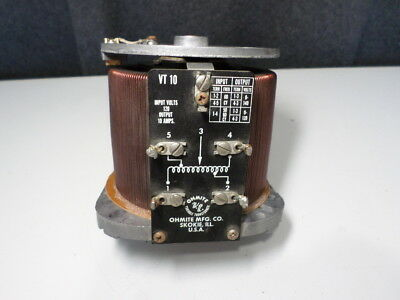 Ohmite VT-10 Variac w/ Face Plate and Dial