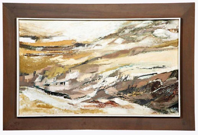 Margaret Smith Abstract Coastal Landscape Mid Century Modern