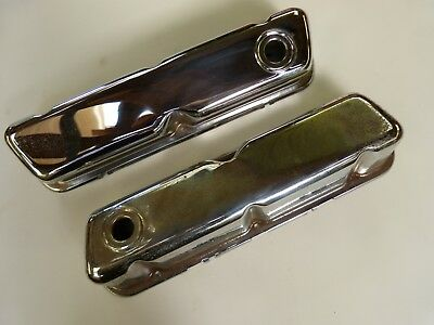 Pair of Ford 289 302 chrome engine valve covers 1964- on