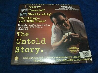 """Laser Disc Herman Yau,s  """" The Untold Story """" Stars Anthony Wong And Danny Lee"""