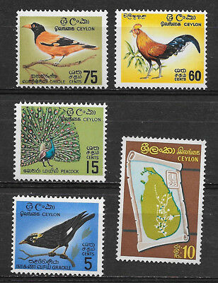 Ceylon , Sri Lanka , 1963/69 , Lot Of 5  Stamps , Perf , Vlh , Cv$30.00
