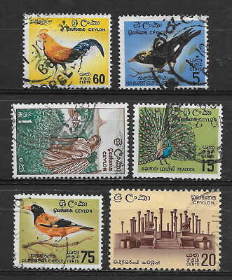 Ceylon , Sri Lanka , 1963/69 , Set Of 6  Stamps , Perf , Used