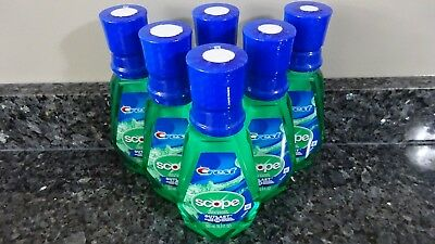 6 Crest OUTLAST Scope Mouthwash Mouth Rinse 16.9 FL oz. 500 ml each Bottle NEW