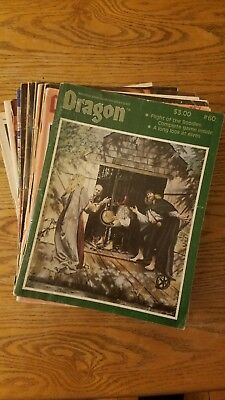 The Dragon Magazine: Lot of 12 issues, 1981-85, AD&D