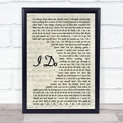 I Do Vintage Script Song Lyric Quote Print
