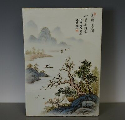 Fine Antique Chinese Porcelain Plaque Famille Rose Marked Wang Yeting Jm8686