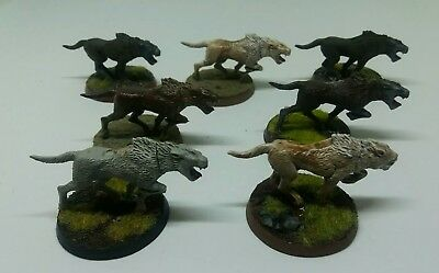 games workshop  Lord of the rings 7 plastic wargs