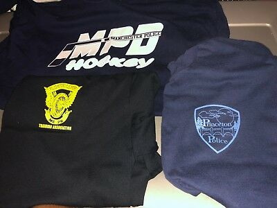 3 Different  POLICE Dept Shirts XXLarge