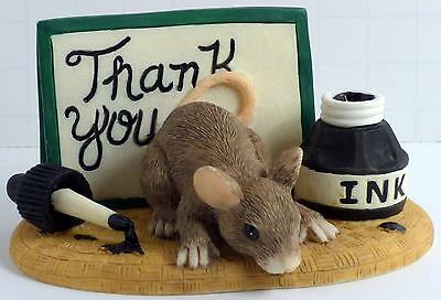 """Charming Tails """"Thank You"""" 98/700 Signed by Dean Griff"""