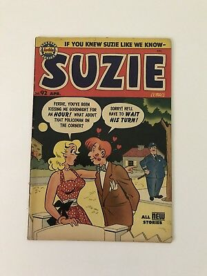 Suzie Comics #92 (1954, Archie) RARE Cheesecake Good Girl VG/FN