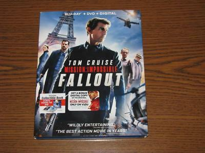 Mission Impossible Fallout (Blu-Ray/DVD, 3-Disc Set) With Slip Cover