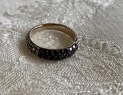 Michael Dawkins Starry Night Sterling .75 ct Black Spinel Pave Stacking Ring