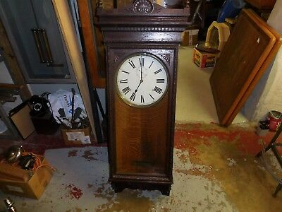 New York Standard Watch Company Clock Self Winding Battery Electric