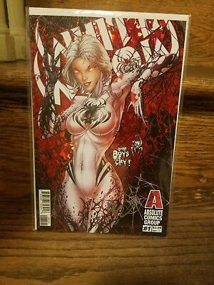White Widow # 1 Red Foil  Variant Cover Edition !!  Nm Benny Powell Signed