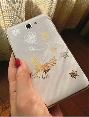 Gold Foil Metallic Flash Temporary Tattoo Stickers Fashion Festival Concert