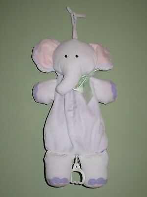 Kids II Purple Elephant Plush Musical Baby Crib Pull Toy