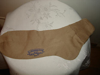 Vintage Beige Ladies Mercerized Cotton Nylon New Top Of Ankle Socks Size 11
