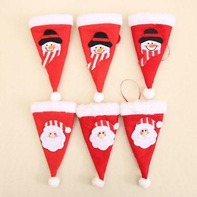 Christmas Santa Claus Hat  Cutlery Holder Xmas Table Party Decoration L