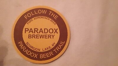 Paradox Brewery 4 Inch Craft Beer Coaster Schroon Lake Ny