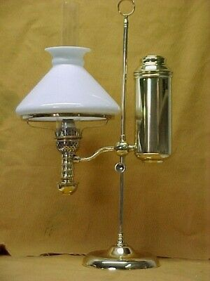 1870's Manhattan Student Oil Lamp, Comp. W/ Shade, Excellent Condition