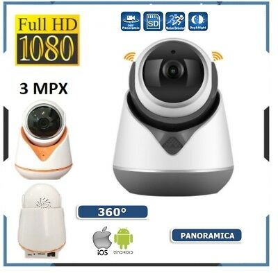 Telecamera Videosorveglianza Ip Full 1080P Wireless 3 Mpx Esterno Cloud Wifi Led