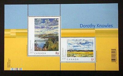 Canada Sc# 2148  Art Paintings by DOROTHY KNOWLES Souvenir Sheet  2006  MNH mint