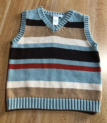 Janie And Jack Striped Cotton Sweater Vest - 4T