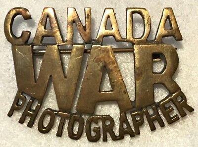 WWII CANADIAN WAR PHOTOGRAPHER Metal Title