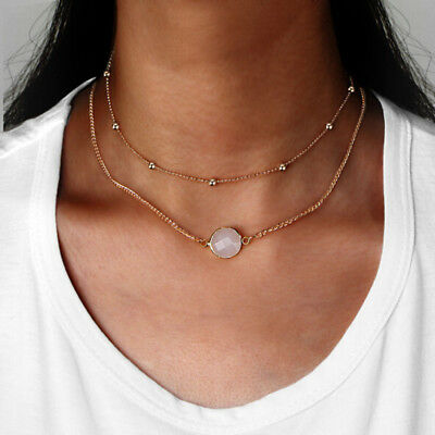 Fashion Multi Layer Choker Necklaces Sexy Simple Style Pendant Jewelry L