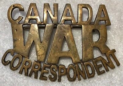 WWII CANADIAN WAR CORRESPONDENT Metal Title