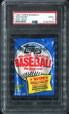 "1983 Topps Baseball ""Michigan"" Test Wax Pack PSA 9 MINT Gwynn & Boggs RC 88"