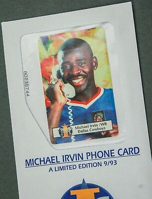 1993 Michael Irvin Phone Card IEM Telecom Limited Edition Collectible Sealed