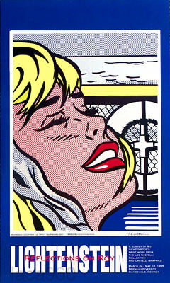 Roy Lichtenstein Shipboard Niña 1995 Pop Art Póster