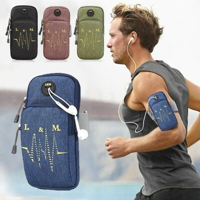 New Arm Band Bag Portable Double Pockets Multi-function Sports Phone Holder Bag