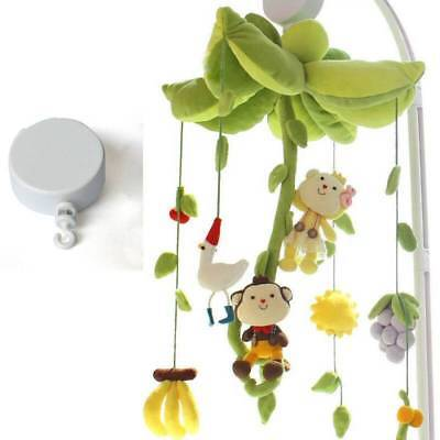 Rotary Baby Cot Mobile Crib Bed Toy Wind-up Music Box Infant Bell DIY Hanging