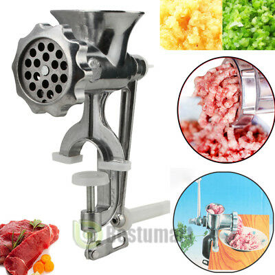 Heavy Duty Manual Meat Grinder Mincer Cast Iron Table Hand Crank Kitchen Tool