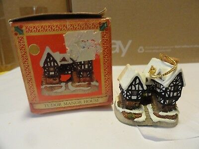 """(W-8) David Winter Cottages """"ornament-Tudor Manor House""""  With Box"""