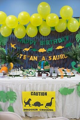 Dinosaur Birthday Banner Wall Hanging Decor Party Decoration Supplies